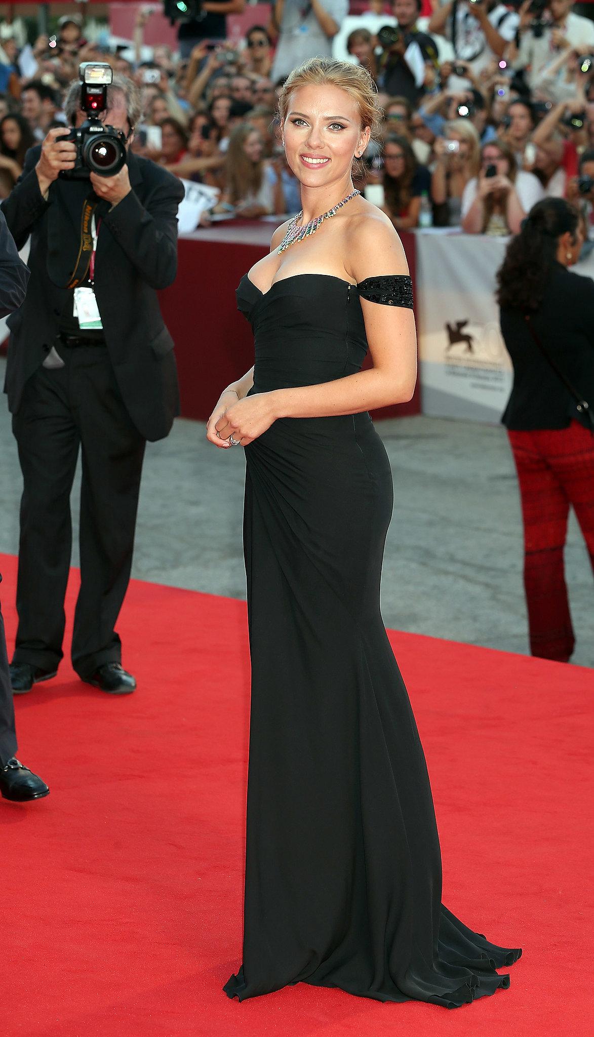 Scarlett Johansson attended the premiere of Under the Skin.