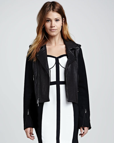 Rebecca Minkoff Wolf Zip-Off-Sleeve Leather Jacket