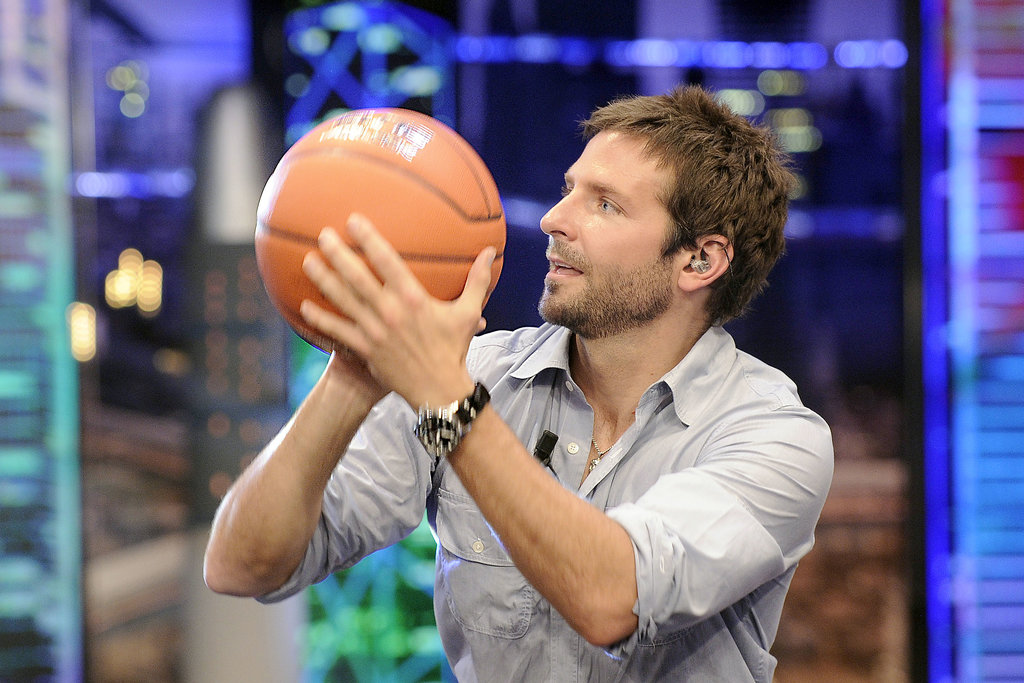 Bradley Cooper was shooting hoops on camera.