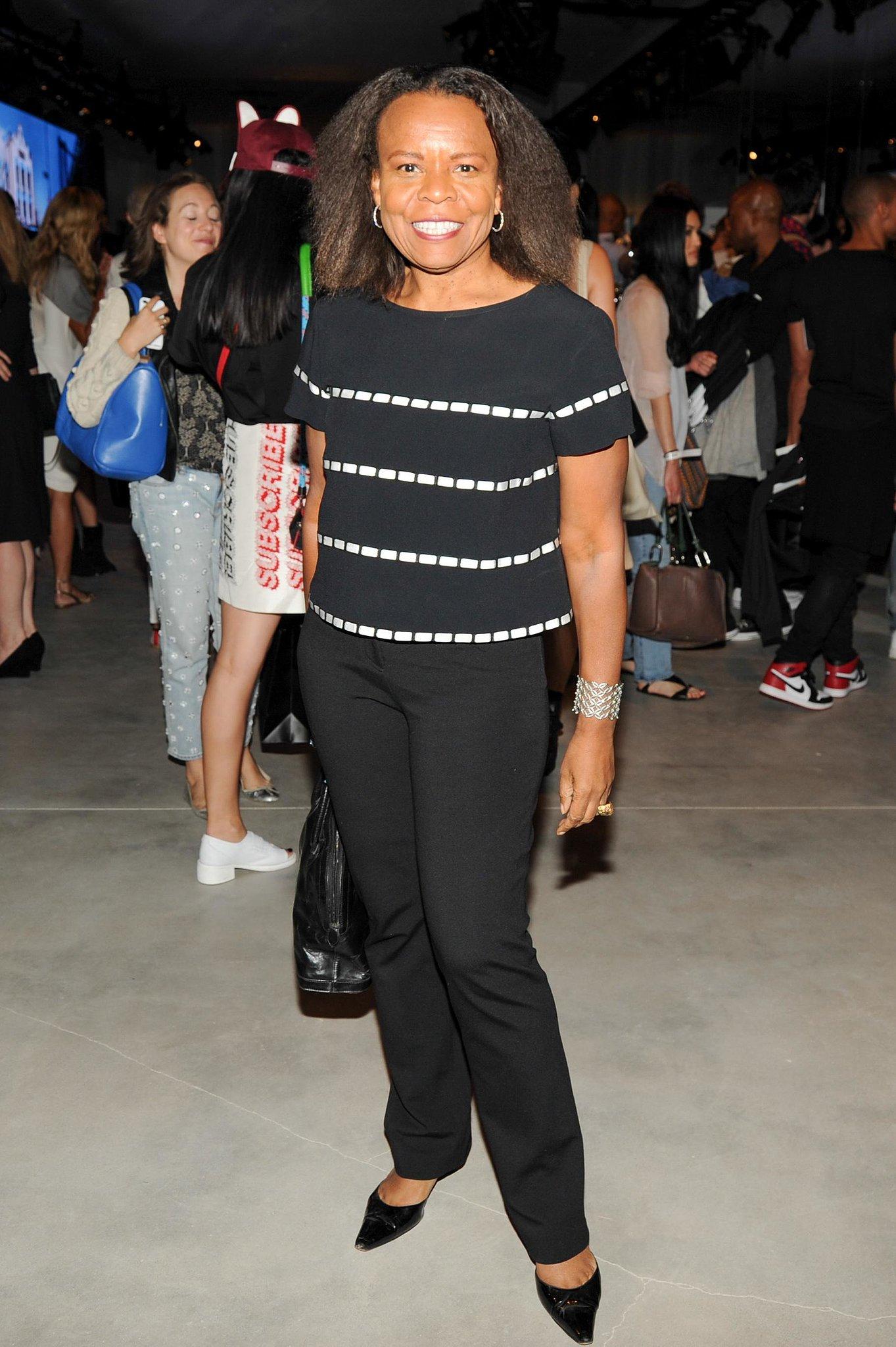 Fashion critic Teri Agins made an appearance at the celebration