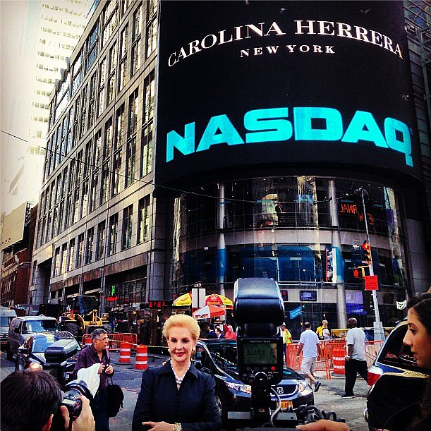 What better way to kick off Fashion Week than with an opening bell sounded by Carolina Herrera? Source: Instagram user houseofherrera