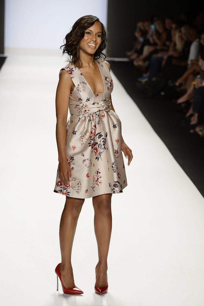 Kerry Washington was all smiles on the runway.