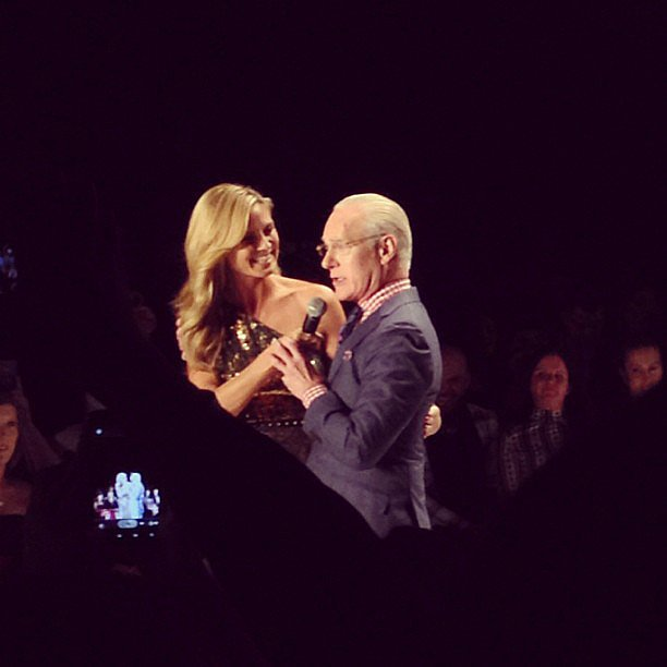 Heidi Klum and Tim Gunn had a moment preshow on the Project Runway catwalk.