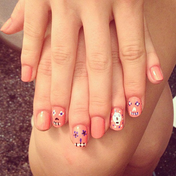 We love these Day of the Dead-inspired nails by Essie from Rebecca Minkoff's show.