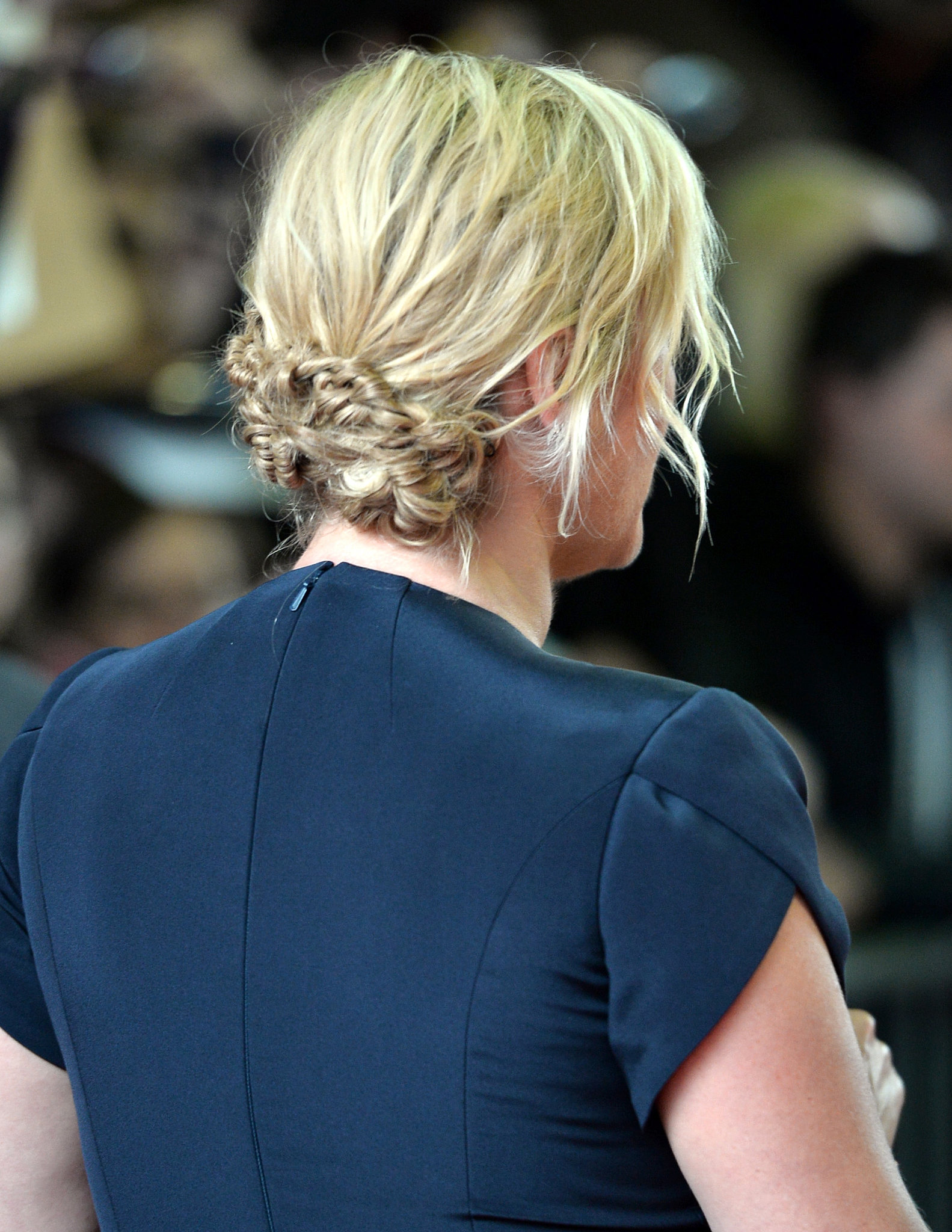 From the back, Kate Winslet wore a highly covetable twisted bun on the Labor Day red carpet.