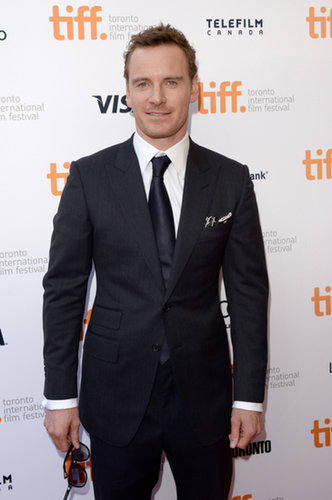 Michael Fassbender looked sharp on the red carpet.