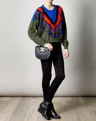 Green Fairisle Cropped Sweater