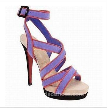 Cheap Purple Christian Louboutin Sandals Straratata Platform 140mm