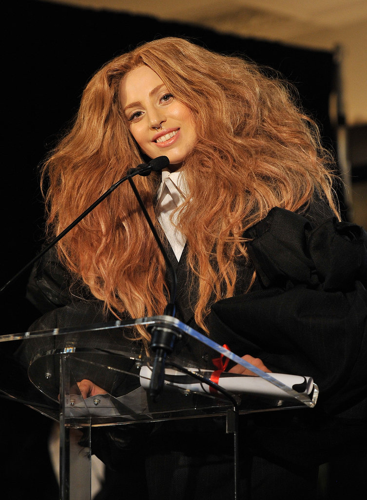 Lady Gaga at Daily Front Row's Fashion Media Awards.
