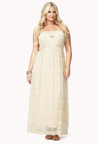 FOREVER 21+ Romantic Crochet Lace Maxi Dress