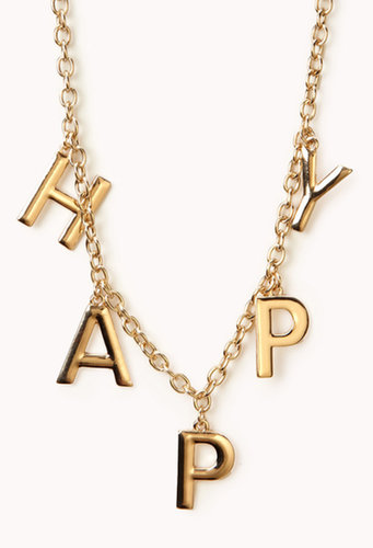 FOREVER 21 Happy Chain Necklace
