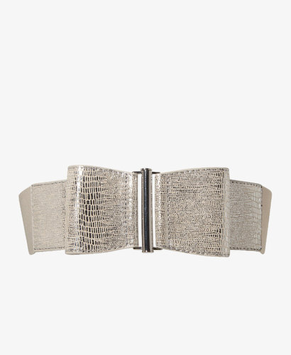 FOREVER 21 Metallic Bow Waist Belt