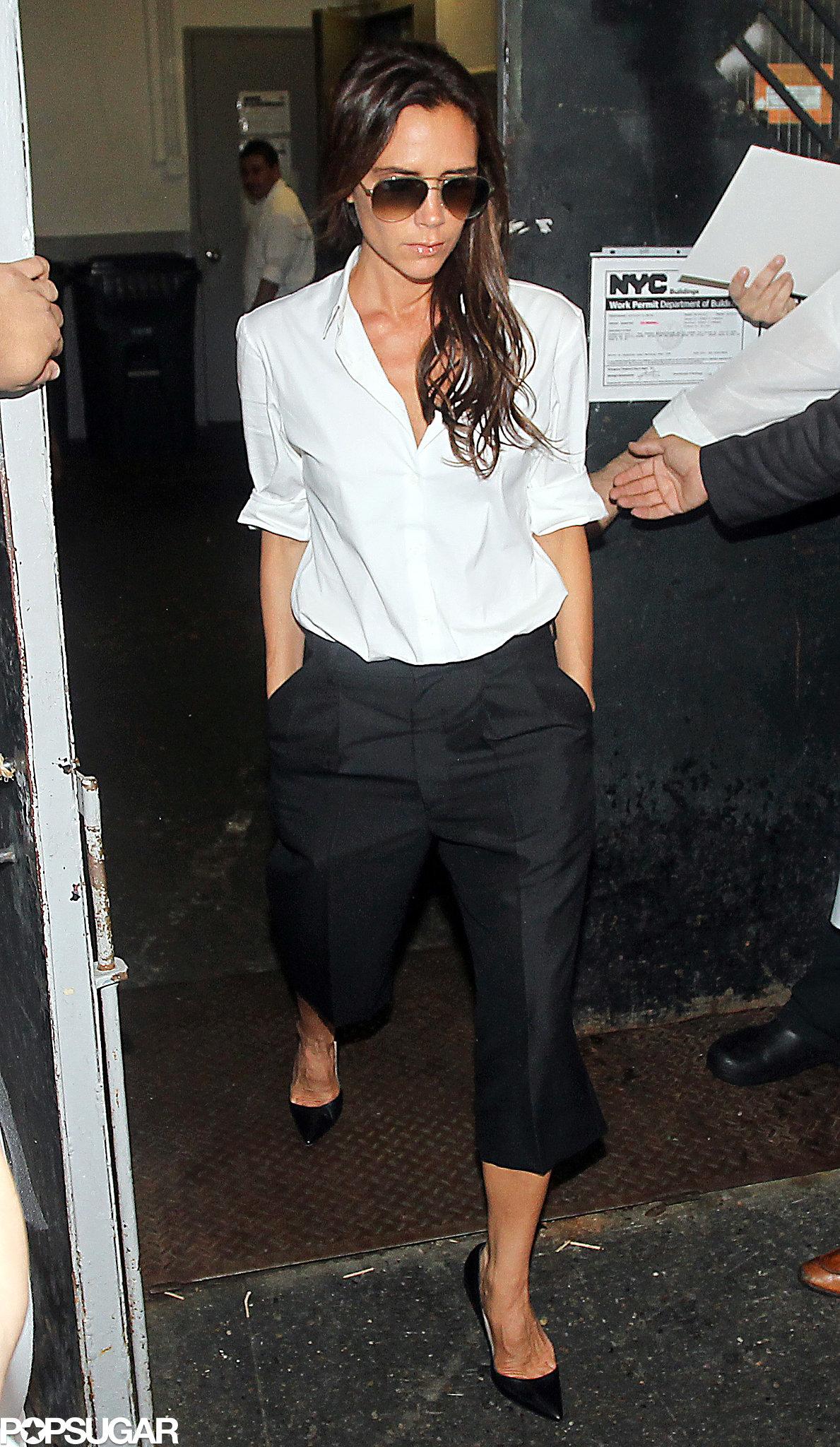 Victoria Beckham went to Balthazar after her show.