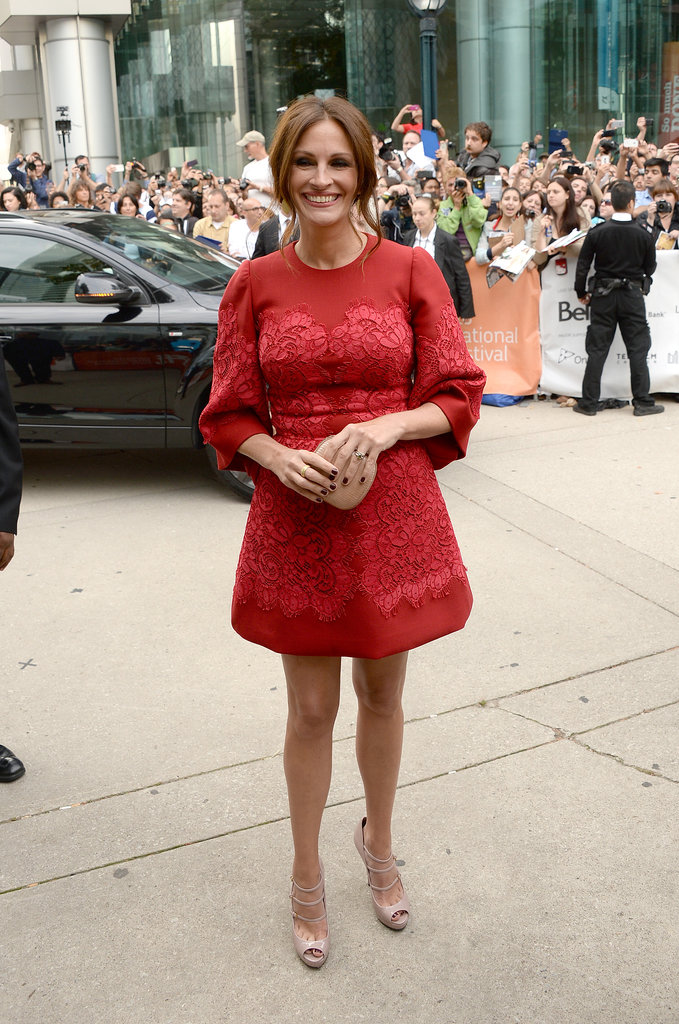 Julia Roberts wore a Gucci dress to the TIFF premiere of August: Osage County.