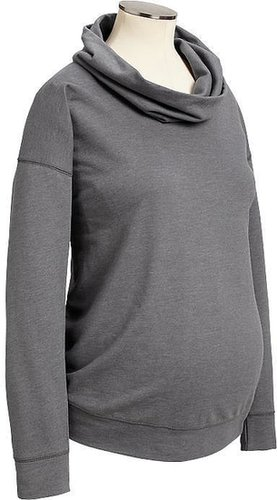 Maternity Cowl-Neck Sweatshirts
