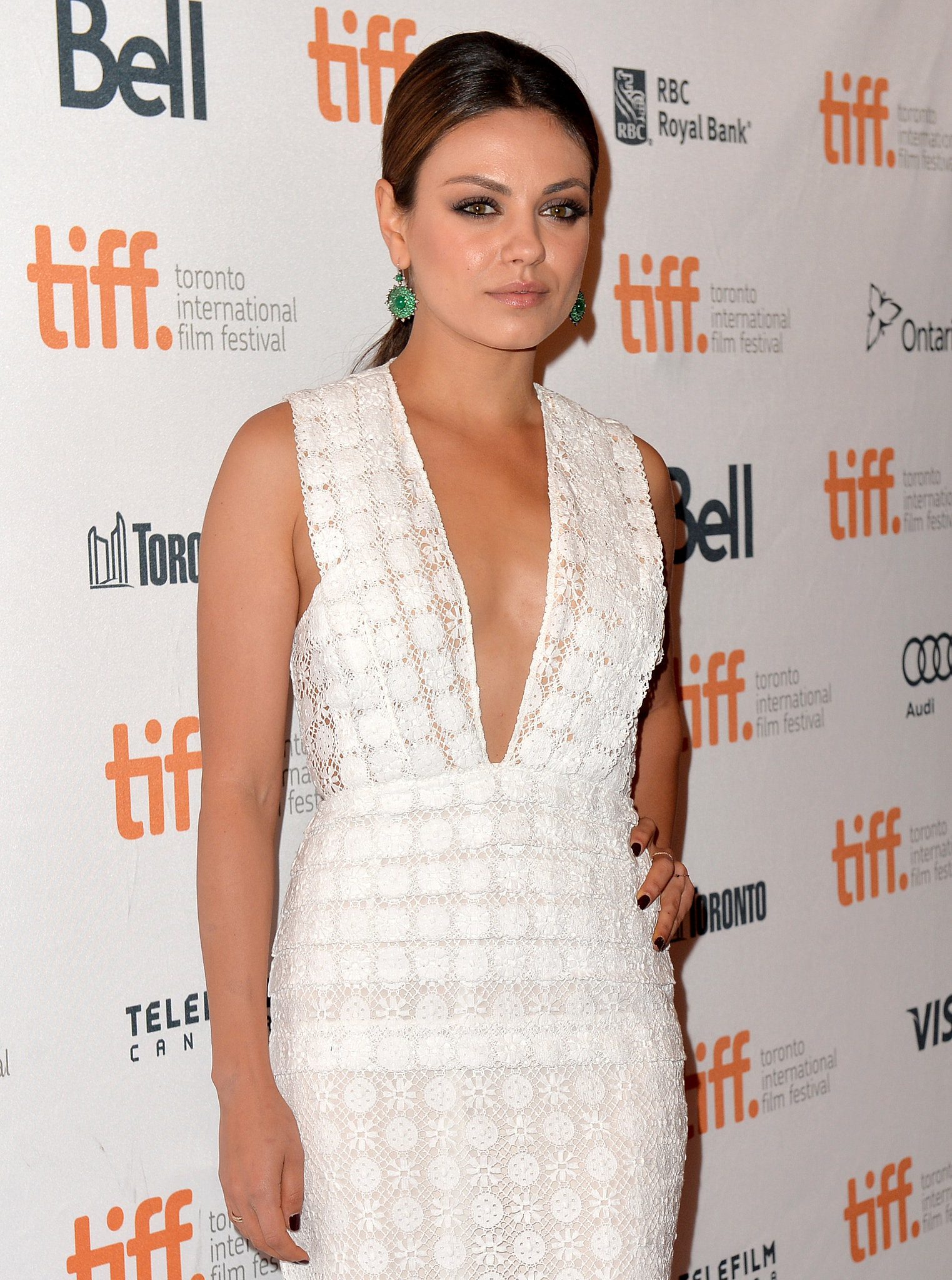 Mila Kunis made a glamorous appearance at the Third Person premiere.