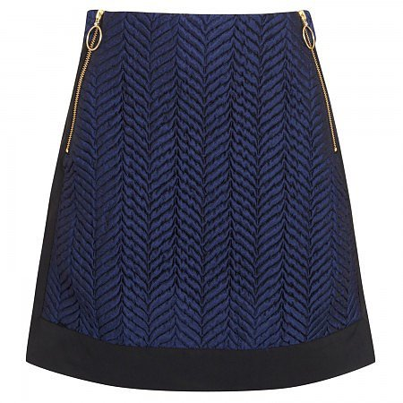 Opening Ceremony Textured satin twill skirt
