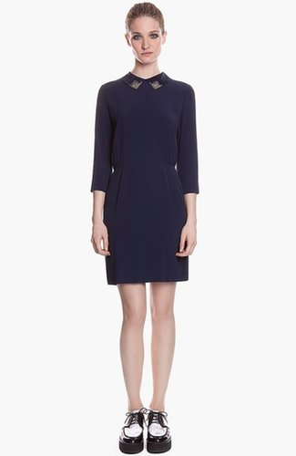 sandro 'Rodo' Embellished Stretch Blouson Dress