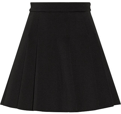 T by Alexander Wang Pleated neoprene skirt