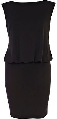 Black diamante open back mini dress
