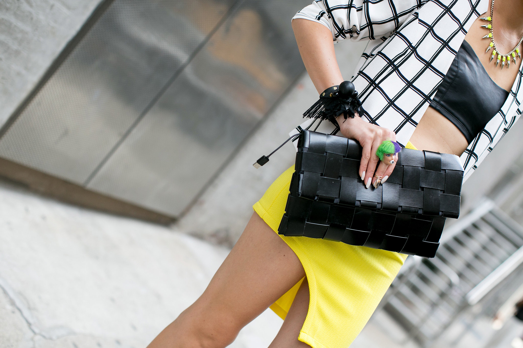 Just the way we like our clutches, oversize and roomy enough to hold everything we need.