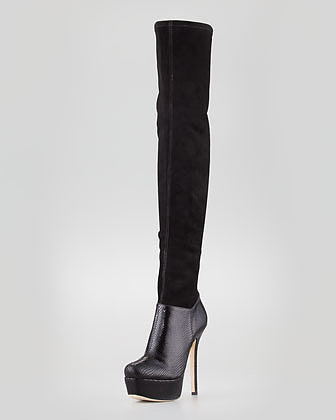 Alice + Olivia Luke Platform Over-the-Knee Boot