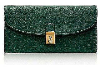 Tory Burch Priscilla Calf Hair Tri-Fold Continental Wallet