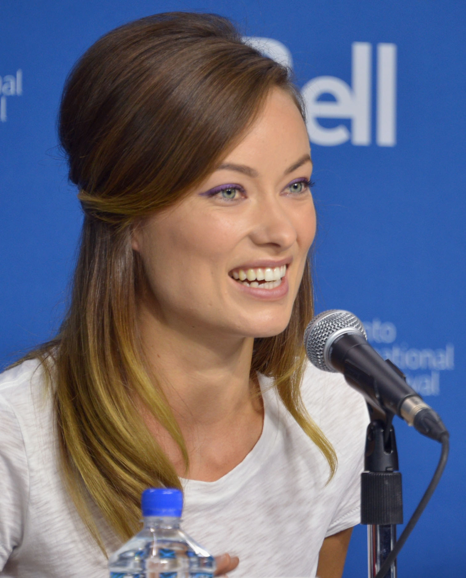 Olivia Wilde was all smiles at the Third Person press conference.
