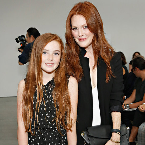 Julianne Moore and Liv Freundlich at New York Fashion Week