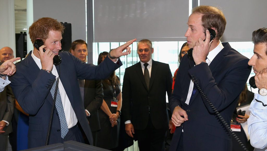Prince Harry joked that his brother, Prince William, was flirting on the phone at the BGC Charity Day in London in September 2013.