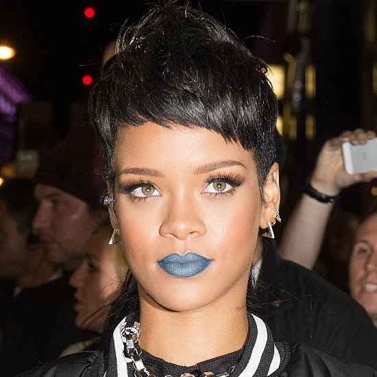 Rihanna Wears Blue Lipstick, Shocks No One