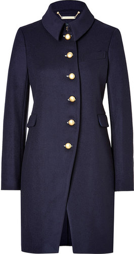 Marc by Marc Jacobs Wool Nicoletta Curve Coat in General Navy