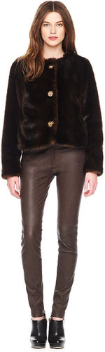 Michael Kors Stretch-Leather Skinny Jeans