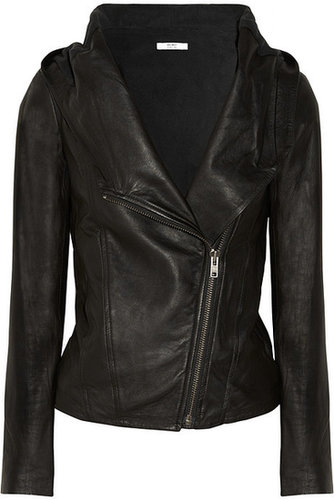 HELMUT Helmut Lang hooded washed-leather jacket