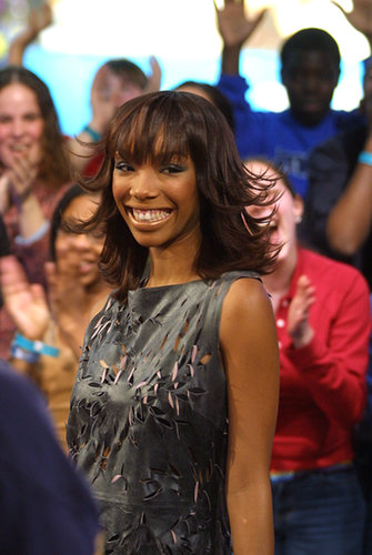 Brandy was all smiles during her TRL appearance in 2002.