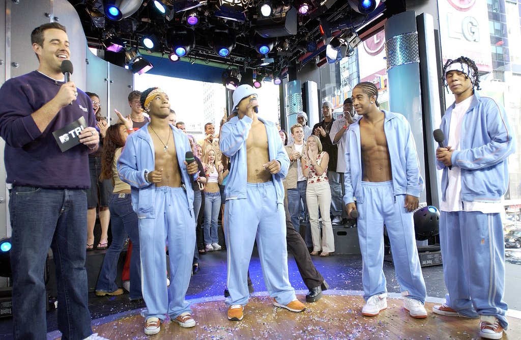 B2K visited the show (and showed off their abs) for a 2002 episode of TRL.