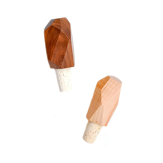 These classy bottle stoppers ($22) would be a great hostess gift — or you can keep them for yourself!