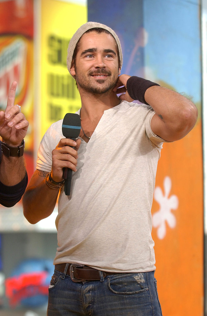 Colin Farrell sported a beanie for his 2003 TRL appearance.