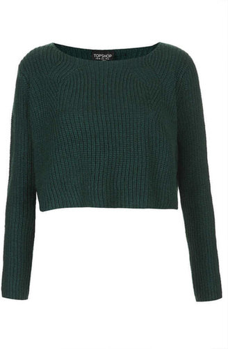 Knitted Crop Clean Rib Jumper