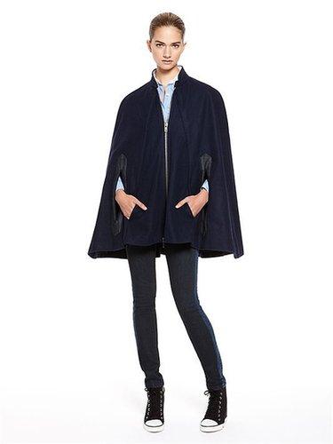 DKNY Jeans Denim Pieced Wool Cape
