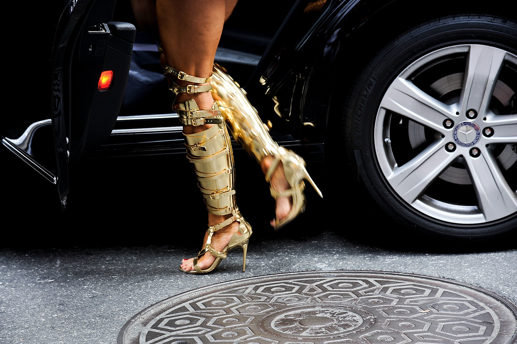 Anna Dello Russo gets our vote for most awesome heels at Fashion Week.