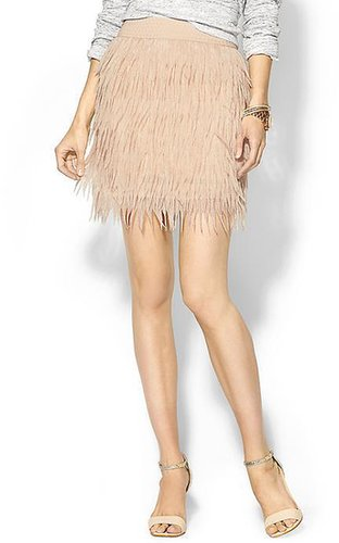 Press Sabine Chiffon Feather Skirt