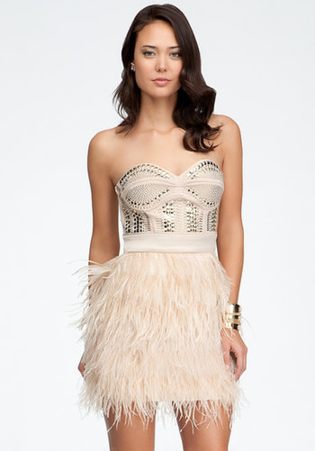 Isis Studded Feather Dress