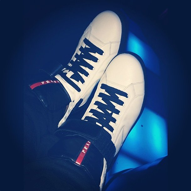 Prada kept its shop open late for Ciara, and these kicks were proof!  Source: Instagram user ciara