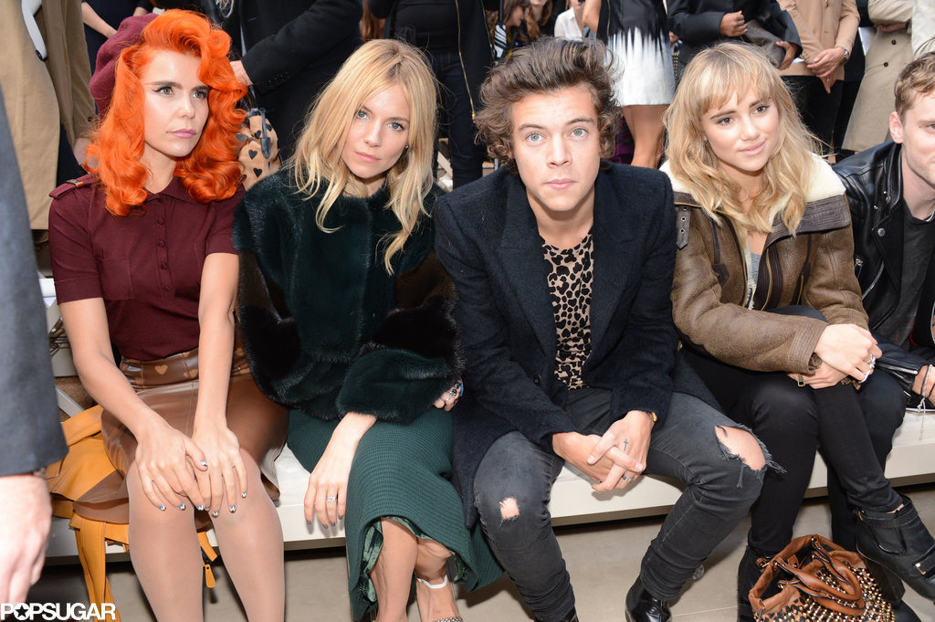 Paloma Faith, Sienna Miller, Harry Styles, and Suki Waterhouse sat in the front row.