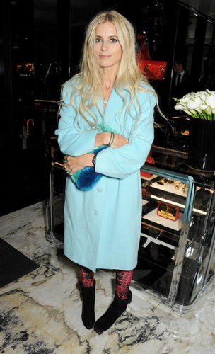 At the Tom Ford London event, Laura Bailey was at her coolest in an icy blue topper.