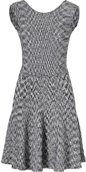 Issa Ribbed Space Dyed Dress in Heather Black