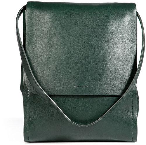Jil Sander Leather Bag in Bottle Green