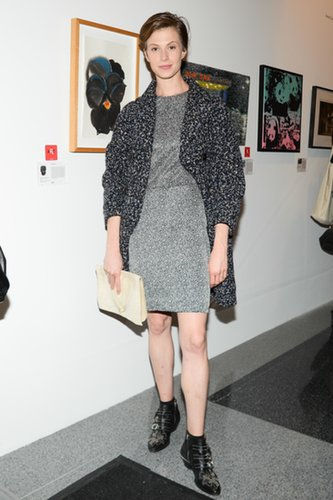 Elettra Wiedemann hit the Annual RxArt Party in Derek Lam's cool gray shift.