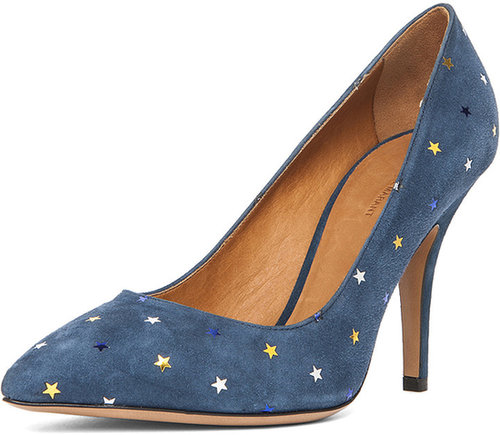 Isabel Marant Anaid Suede Star Pumps in Navy